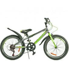 """Велосипед BLACK AQUA CITY 1201 V matt 20"""" серо-зелёный"""
