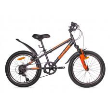 """Велосипед BLACK AQUA Cross 1221 V 20"""" чёрно-оранжевый"""