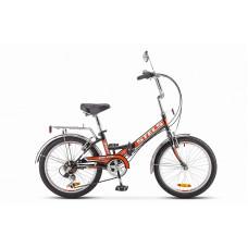 """Велосипед STELS 20"""" Pilot-350 6sp чёрно-оранжевый"""