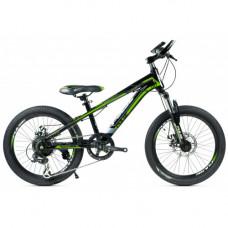 """Велосипед Pulse MD 200 24"""" 21 скорости Disc MTB зелёный"""