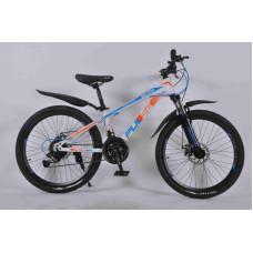 """Велосипед Pulse MD 200 24"""" 21 скорость Disc MTB бело-сине-оранжевый"""