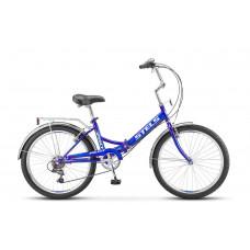 "Велосипед STELS 24"" Pilot-750 синий 6-sp"