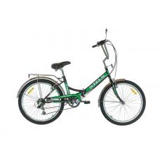 """Велосипед STELS 24"""" Pilot-750 чёрно-зелёный 6-sp"""