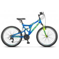 "Велосипед Stels Mustang V 24"" 21 скорость FS v020 синий"