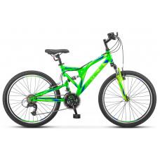 """Велосипед Stels Mustang V 24"""" 21 скорость FS v020 неоново-зелёный"""