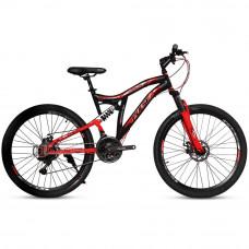 """Велосипед Pulse MD2670 26"""" 21 скорость чёрно-красный"""