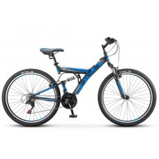 """Велосипед STELS 26"""" Focus V 18-sp чёрно-синий V020"""
