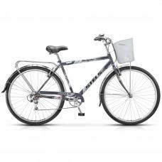 """Велосипед STELS 26"""" Navigator-250 Gent рама 19"""" 7-sp серый корзина Z010"""