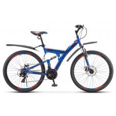"""Велосипед STELS 27,5"""" Focus MD 21-sp синий-неоново-красный V010"""