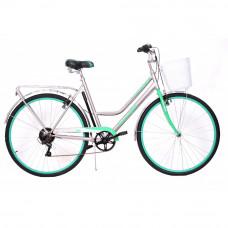 """Велосипед BA CITY 1822 28"""" 6s 2018 серо-бирюзовый"""